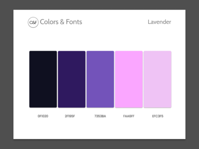 Colors & Fonts Lavender