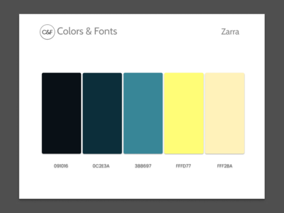 Colors & Fonts - Zarra