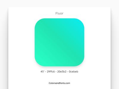 Colors & Fonts - Fluor