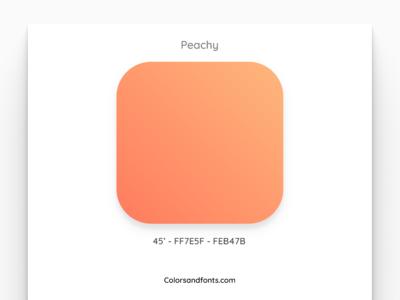 Colors & Fonts - Peachy