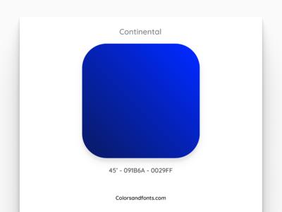 Colors & Fonts - Continental