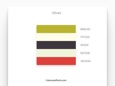 Colors & Fonts - Olives