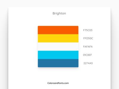 Colors & Fonts - Brighton