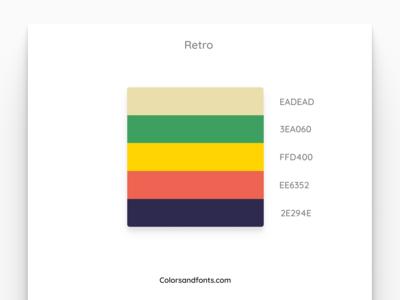 Colors & Fonts - Retro