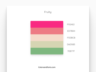 Colors & Fonts - Fruity
