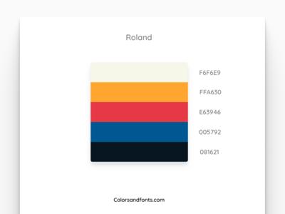 Colors & Fonts - Roland