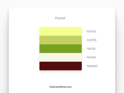 Colors & Fonts - Forest