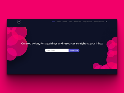 Colors & Fonts - Subscribers CTA figma bubbles clean call to action font colors app typography web growth section design subscription subscribe cta
