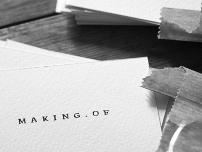 Studio Making Of natural studio wood-free paper business card logo