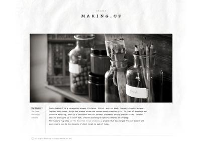 Studio Making Of Website branding logo website israel studio