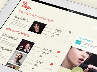 Shnips idols application web video chat search results similar