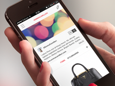 Stylift curator profile fashion application social trendsetters curator profile startup trends styling mobile iphone