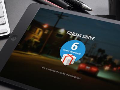 Cinema Drive game drink and drive application teenagers edutainment responsive branding