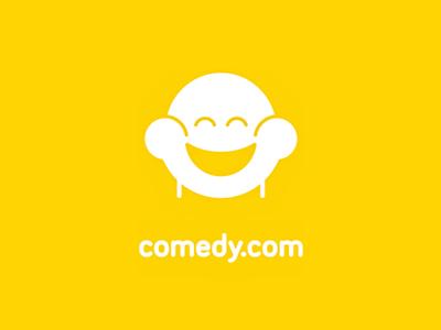 Comedy.com comedy watching binge funny humor branding logo