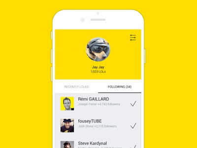 Comedy.com / profile videos laugh profile yellow mobile ios application lol comedy