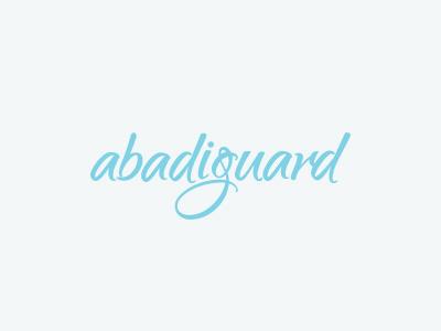 Abadiguard typography studio logo