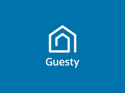 Guesty logo platform guesty booking airbnb guests houses vacation rental property management logo