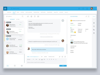Guesty's unified inbox reservations booking airbnb communication property managers guests pms platform messaging ticketing inbox guesty