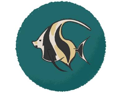 Moorish idol fishes ocean marine fish moorish idol design vector illustration illustrator