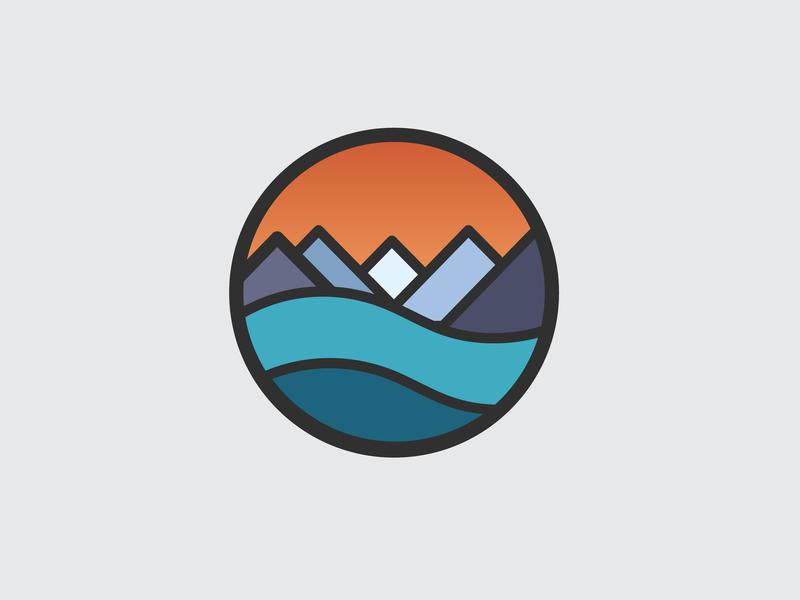 Drawing Challenge #20 icon mountains badge illustrator inktober vector