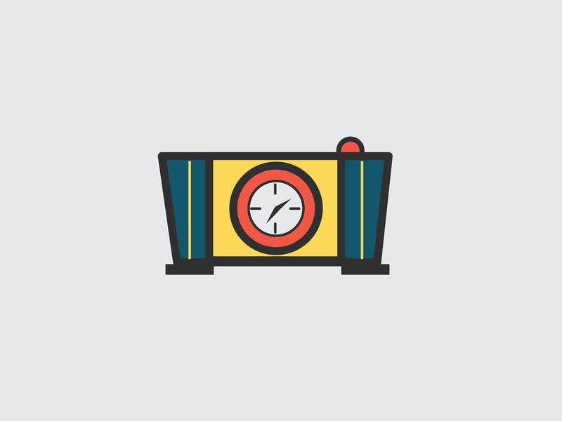 Drawing Challenge #22 clock inktober ai illustration vector illustrator