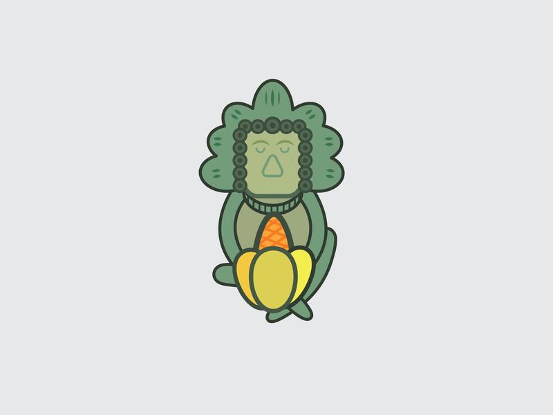 Drawing Challenge #25 inktober 30 day challenge maize god maya artifact vector illustrator
