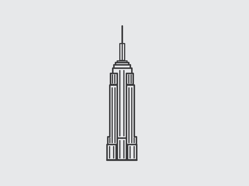 Drawing Challenge #28 empire state empire state building new york nyc inktober vector illustrator