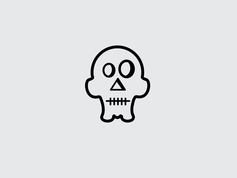 Drawing Challenge #29 inktober vectober vector skull halloween illustrator