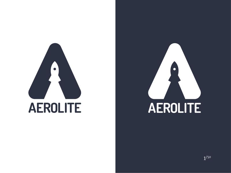 Aerolite flat logo flat  design logo challenge logo 2d miami graphic design vector rocketship space branding illustrator aerolite logo design daily logo challenge logo