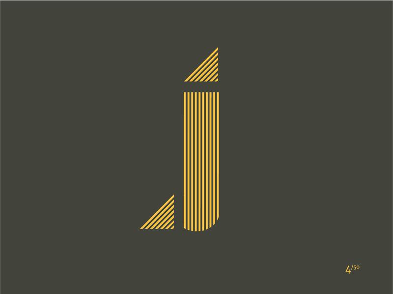 Letter J typogaphy type letter j j logo 2d miami graphic design vector branding illustrator logo design daily logo challenge logo minimal shape elements