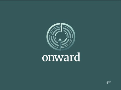 Onward self driving auto car driverless car onward gradient shape elements minimal logo daily logo challenge logo design illustrator branding vector graphic design miami logo 2d