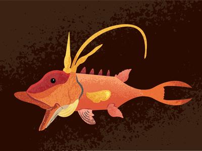 Hogfish fish branding hogfish fishing miami ai illustration vector illustrator
