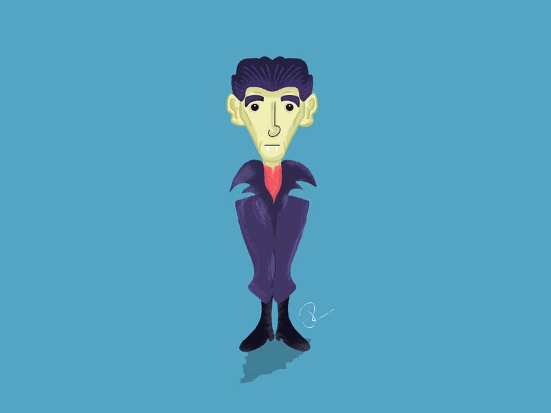 Vampire halloween vampire illustration procreate vectober mabsdrawlloweenclub inktober2019 inktober