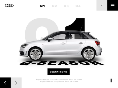 Audi Q-season microsite automotive microsite userexperiencedesign userinterface uiux ui audi