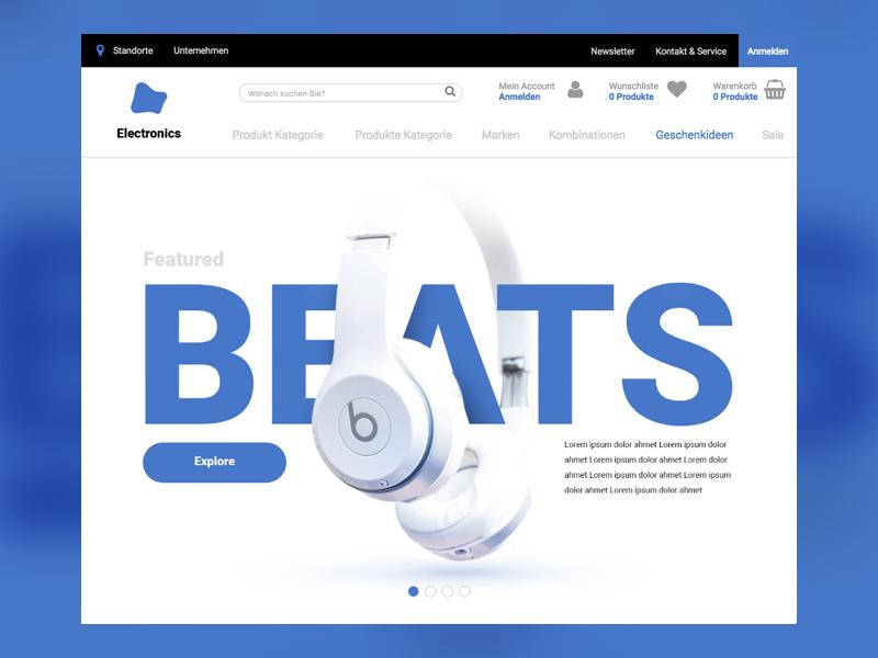 Maverick commerce web design shopping white clean ux ui e-commerce