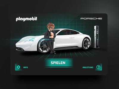 Playmobil racer scifi taycan playmobil interfacedesign car remote control toy futuristic uiux app design