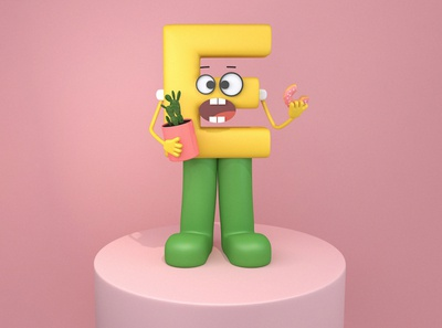 Mr.E - '低气压' Depression c4d character 3dmodeling