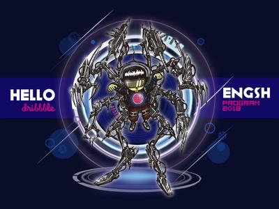 Hello, Dribbble ! ai idea armor mechanical debut design