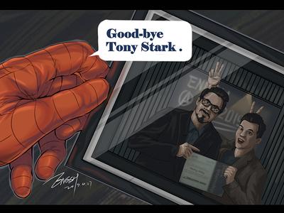 Bye Tonystark 超级英雄 drawing ps 插图