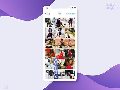 Social_Share day010 dailyui 010 design ux app design app concept dailyui app ui ios