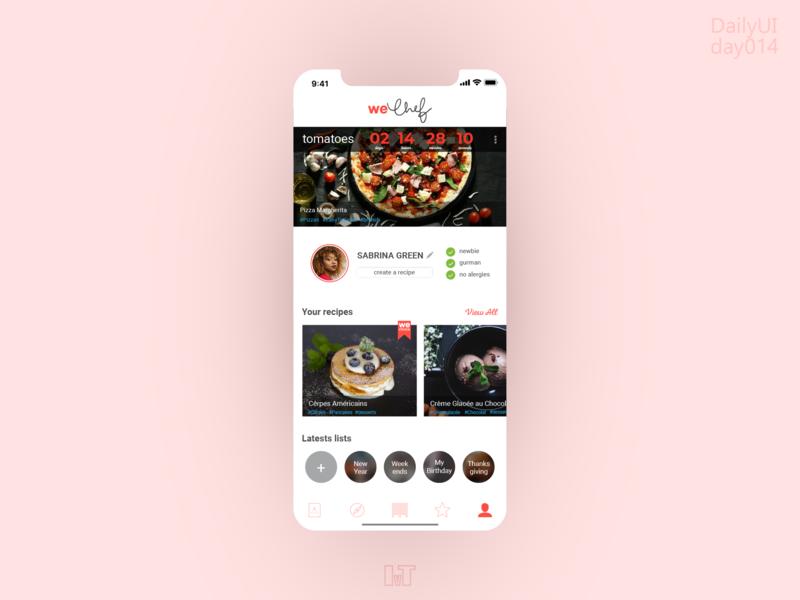 WeChef+Instagram redesign concept countdowntimer dailyui 014 dailyui re design app design app concept app ui ios