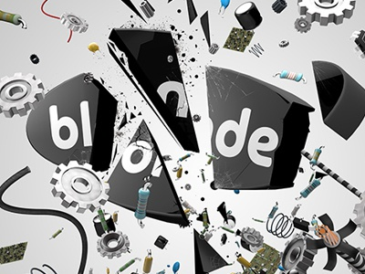 Blonde logo cinema 4d c4d render abstract art 3d 4d desktop wallpaper