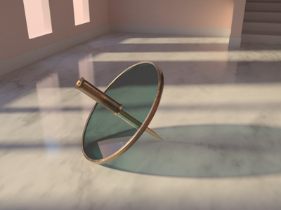 Spin redshift metal glass marble illustration c4d 3d cinema4d render