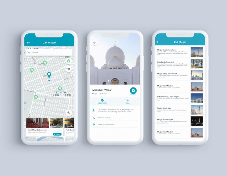Search Mosque UI For Muslimnesia App illustration muslimnesia motion muslim ios mobile interactiondesign dribbble webdesign website uxdesign ux uidesign ui ixd