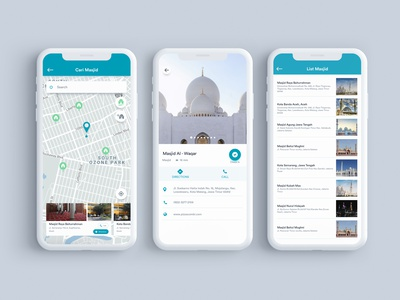 Search Mosque UI For Muslimnesia App illustration muslimnesia motion muslim ios mobile interactiondesign dribbble webdesign website uxdesign ux uidesign ui ixd