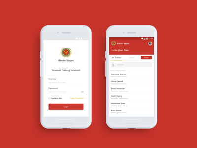 Bakoel Kayoe UI red motion mobile ios interactiondesign dribbble website webdesign uxdesign ux uidesign ui ixd