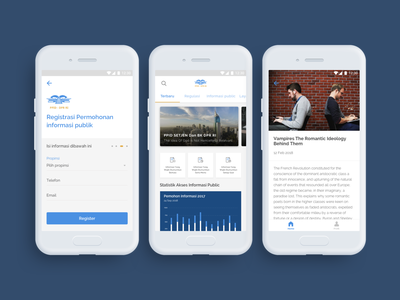 PPID For DPRD Indonesia dprd blue red motion mobile ios interactiondesign dribbble website webdesign uxdesign ux uidesign ui ixd