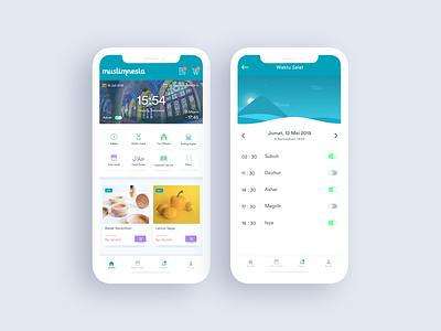 UI Design for Musllimnesia Mobile App apple ux designer tosca blue indonesia mosque muslim muslimnesia iphone x ios dribbble illustration interactiondesign website webdesign uxdesign ux ui uidesign ixd