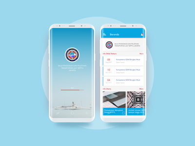 BPPTL Mobile App vector design blue illustration motion mobile ios dribbble interactiondesign website ux webdesign uxdesign ui uidesign ixd ship education sea bpptl