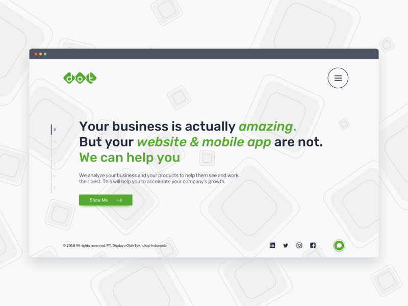 DOT Indonesia Website whitespace subtle green indonesia dot simple clean interface simple typography dribbble illustration interactiondesign website webdesign uxdesign uidesign ixd ui